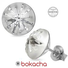 Обеци с кристали Swarovski® SEA URCHIN Crystal - Бял цвят, Код PR E537
