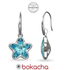 Обеци с кристали Swarovski® STARBLOOM в Aquamarine - Син цвят, Код PR E642A