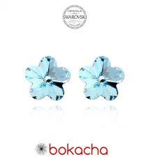 Обеци с кристали Swarovski® FLORAL Aquamarine AB - Светло син, Код PR E204