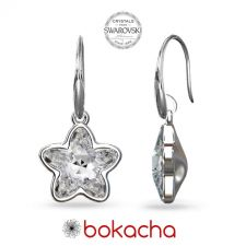 Обеци с кристали Swarovski® STARBLOOM в Crystal - Бял цвят, Код PR E643A