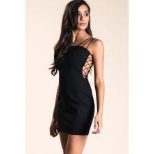 Уникална дамска рокля OH MY LOVE в черно, Код DD0053