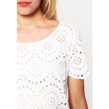 Дамска блуза ONLY английска дантела в бяло, Размер M-L,  Код BL0059