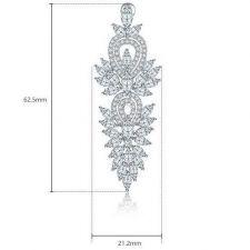 Бижута ЕЛИСА, Колие и Обеци с Кристален Цирконий и Бяло златно покритие, Zerga Brand, ZG S571