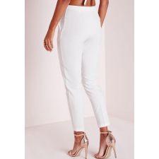 Очарователен панталон MISSGUIDED в цвят слонова кост, Размер XS, Код TT426