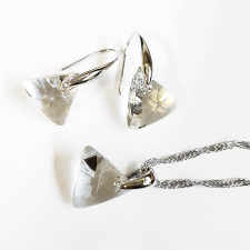 Колие с кристали Swarovski® TRIANGLE Crystal**, Бял, 12мм, Код PR N353-A