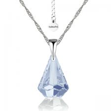 Колие с кристали Swarovski® RAINDROP 14мм  Blue Shade**, Син, Код PR N453A