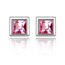 Обеци с кристали Swarovski® PINK MOOD 5мм Light Rose AB - Розов, Код PR E206