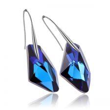 Обеци с кристали Swarovski® GALACTIC 19мм Bermuda Blue BBL, Син, Код PR E362