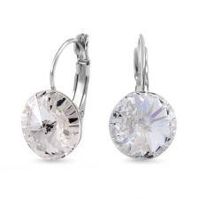 Бижута с кристали Swarovski® RIVOLI Crystal, Бял, Колие и обеци 12мм,  Код ZG S021