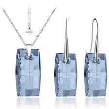 Бижута с кристали Swarovski® URBAN 20мм Denim Blue - Син,  Код PR S090