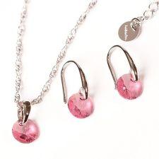 Бижута с кристали Swarovski® RIVOLI Light Rose AB - Розов, Колие и обеци 8мм, Код PR S379