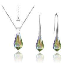 Бижута с кристали Swarovski® TEAR 15мм Vitrail Light** VL, Лилаво-зелен, Код PR S355