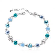 Гривна САВИНА с разноцветни Swarovski Crystals, Zerga Brand, Код ZG B531