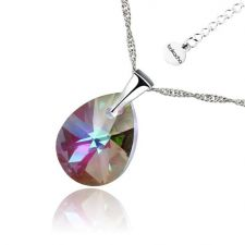 Колие Swarovski® MINI PEAR,12мм, Vitrail Light** VL, Лилаво-зелен, Код PR N496