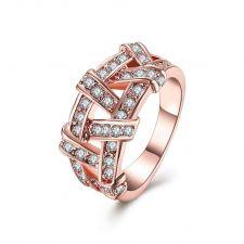 Пръстен ПЛЕТЕНИЦА Zerga Jewelry - 18К розово златно покритие, 18KG R01682 -2