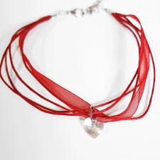 Гривна МАРТЕНИЦА SWAROVSKI® HEART CRYSTAL бял цвят, Код PR B435