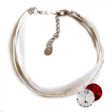 Гривна МАРТЕНИЦА SWAROVSKI® RIVOLI CRYSTAL & SIAM, бял и червен цвят, Код PR B437C