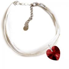 Гривна МАРТЕНИЦА SWAROVSKI® HEART SIAM червен цвят, Код PR B443