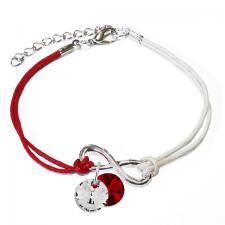 Гривна МАРТЕНИЦА SWAROVSKI® RIVOLI CRYSTAL & SIAM, бял и червен цвят, Код PR B446C