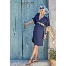 Тъмно синя рокля ENVIE de FRAISE подходяща за бременни, Размер M/L, Код DD0030-M
