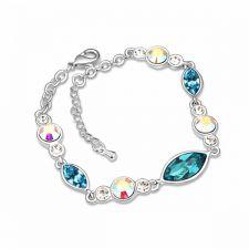 Гривна РОЗАЛИНА с разноцветни Swarovski Crystals, Zerga Brand, Код ZG B523