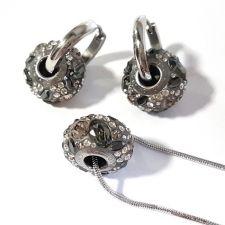 Бижута с талисман БЛЯСЪК В НОЩТА. Колие и Обеци, Swarovski® Pave Beads, Код PR S566