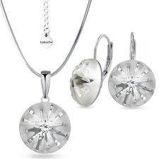 Бижута SWAROVSKI® SEA URCHIN Crystal, Бял цвят, Колие и обеци с английско закопчаване ръчна изработка, Код PR S537B