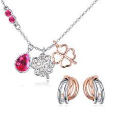 Бижута SUERTE ROSE, Колие и Обеци със SWAROVSKI® Crystals, Zerga Brand, ZG S550