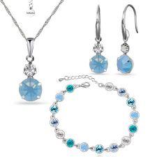Бижута САВИНА със Swarovski Crystals, Колие, Обеци и Гривна Zerga Brand, Код ZG S531-3