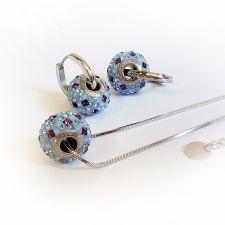 Обеци с талисман СЕВЕРНО СИЯНИЕ, Swarovski® Pave Beads, Код PR E530