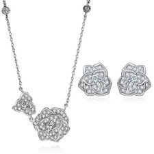 Луксозни Колие с Обеци АДЕЛИНА с Кристален Цирконий и Бяло златно покритие, Zerga Brand, ZG S467