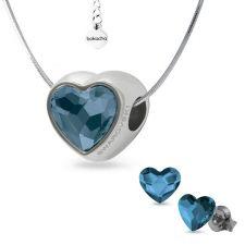 Бижута с талисман ЛЮБОВНА МАГИЯ, декорирани със Swarovski® Pave Beads Crystal, Колие и Обеци на винт, Код PR S556
