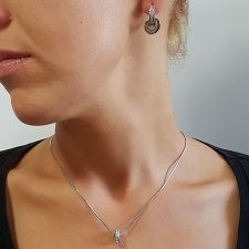 Колие с талисман ПЪТ КЪМ УСПЕХА, Swarovski® Pave Beads, Код PR N533