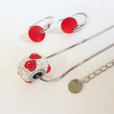 Бижута с талисман МОЯ ЛЮБОВ. Колие и Обеци, Swarovski® Pave Beads, Код PR S529