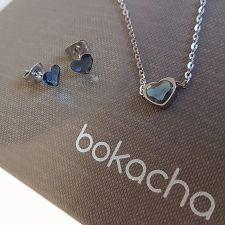 Бижута с камъни SWAROVSKI® ЛЮБОВНА МАГИЯ 6мм Denim Blue Crystal, Син цвят, Колие и Обеци, Код PR S557