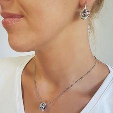 Обеци с талисман ВЪЛШЕБНА ГРАДИНА, Swarovski® Pave Beads, Код PR E531