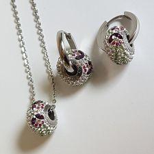 Бижута с талисман ВЪЛШЕБНА ГРАДИНА. Колие и Обеци, Swarovski® Pave Beads, Код PR S531