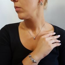 Бижута с талисман ПЪТ КЪМ УСПЕХА. Колие, Обеци и Гривна, Swarovski® Pave Beads, Код PR S533-3