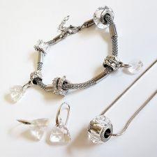 Бижута с талисман ВЕЧНО ПРИЯТЕЛСТВО. Колие, Обеци и Гривна, Swarovski® Pave Beads, Код PR S526-3