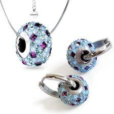 Бижута с талисман СЕВЕРНО СИЯНИЕ. Колие и Обеци, Swarovski® Pave Beads, Код PR S530