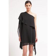 Асиметрична рокля SWING с голо рамо в черно, Размер M, Код DD0136