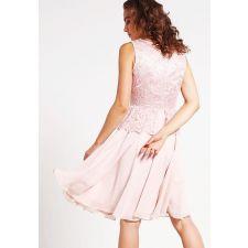 Елегантна рокля SWING с дантела в светло розов цвят, Размер S-M, Код DD0119