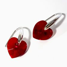 Обеци с кристали Swarovski® HEART ръчна изработка в Light Siam АВ, Код PR E035C
