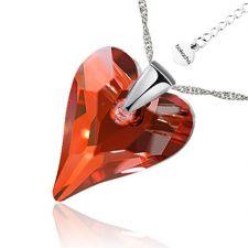 Колие с кристали Swarovski® WILD HEART Red Magma**,Червен цвят, 17 мм,  Код PR N411