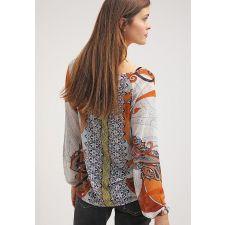 Ефирна цветна блуза SOYACONCEPT с дълъг ръкав, Размер М, Код BL0067