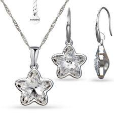 Бижута с кристали SWAROVSKI® STARBLOOM Crystal - Бял цвят, Колие и обеци Код PR S643A