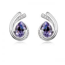 Обеци SUERTE TANZANITE със SWAROVSKI® Crystals и 18К Златно покритие, Zerga Brand, Код ZG E565