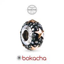 Гривна ЗВЕЗДНИ МОМЕНТИ с талисмани SWAROVSKI® Pave Beads, HEM - Черен, неръждаема стомана, Код PR B646