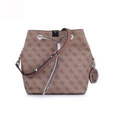 Чанта с дълга дръжка Guess в кафяв цвят, Код F183