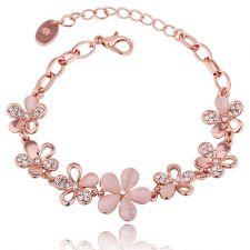 Гривна TIMELESS BEAUTY с 18К Розово Злато и Австрийски кристали, Zerga Brand, Код 18KG B07573